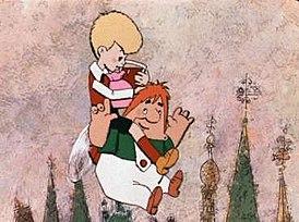"""Постер мультфильма """"Малыш и Карлсон"""""""